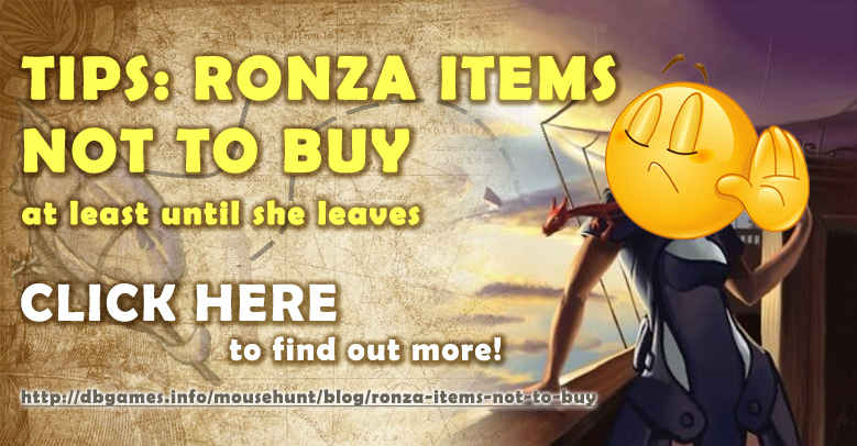 Ronza: Items Not To Buy