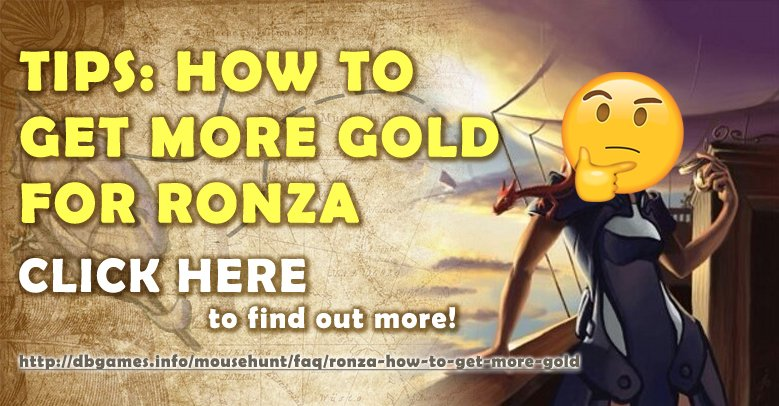 Ronza: How To Get More Gold?