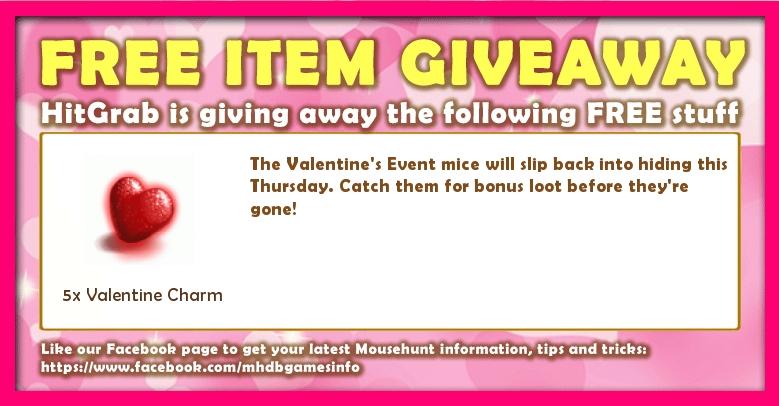 Giveaway: 16 February 2017 - Valentine
