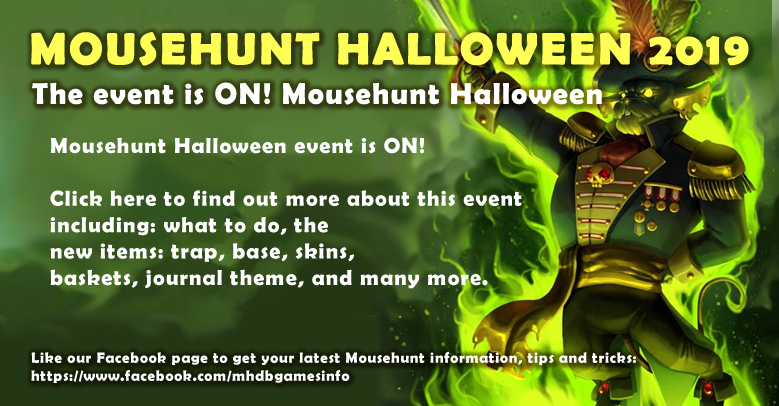 Mousehunt Halloween 2019 Event Guide