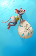 Sand Dollar Diver Mouse