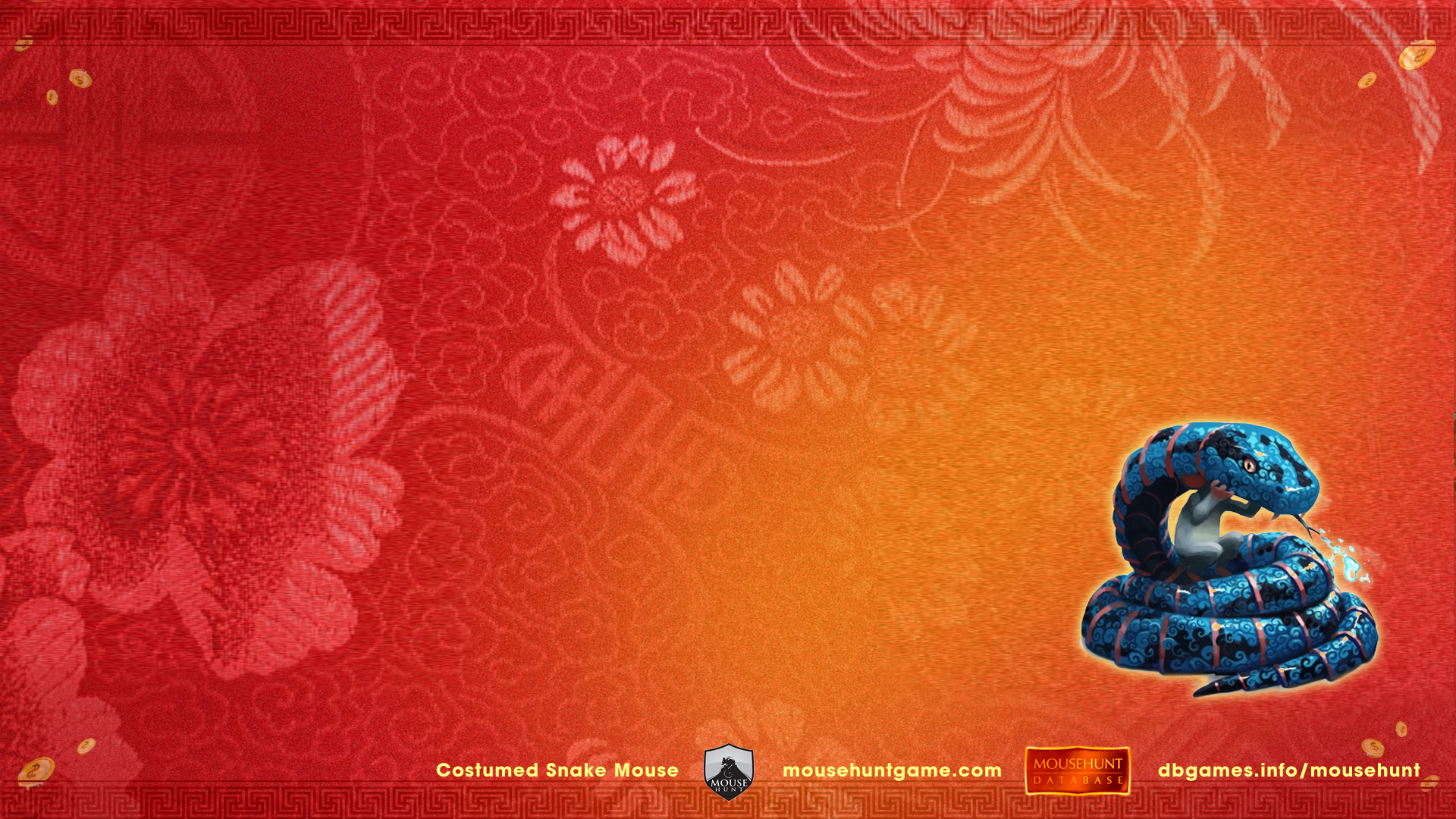 Costumed Snake Mouse of Mousehunt - Lunar New Year 2013
